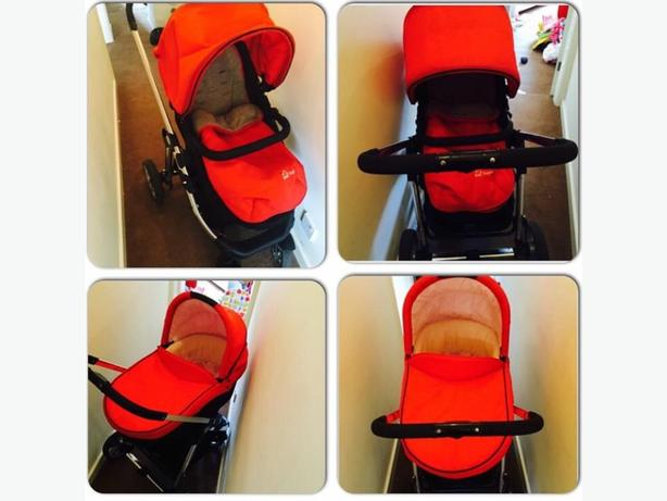 unisex red pushchair
