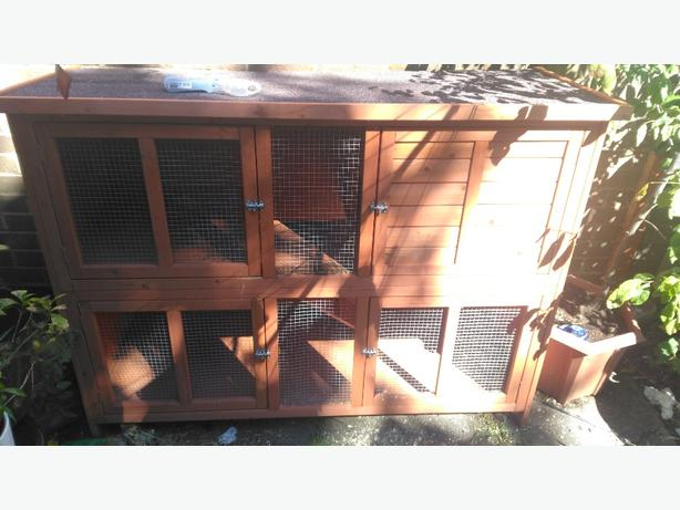 double height rabbit cage