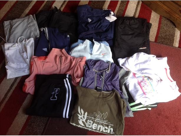 Assortment ladies sports clothes
