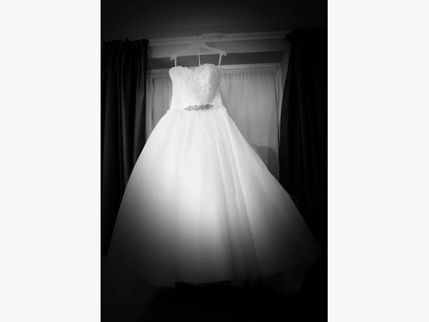 size 16 white wedding dress