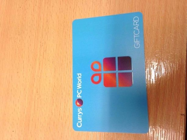 currys p.c world gift card with balance