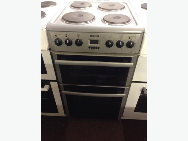 BEKO 50CM ELECTRIC COOKER DOUBLE OVEN