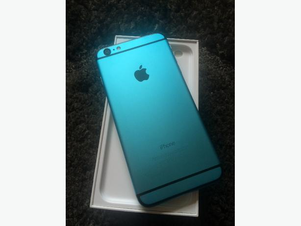 iphone 6 plus limited edition custom blue unlocked( immaculate)