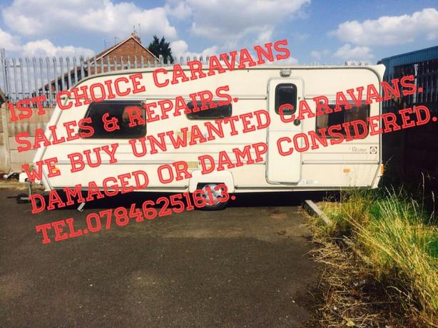 WANTED: caravans bought for cash ££