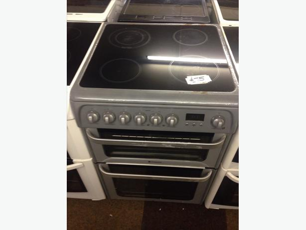 HOTPOINT ELECTRIC COOKER DOUBLE OVEN REDUCES TO CLEAR