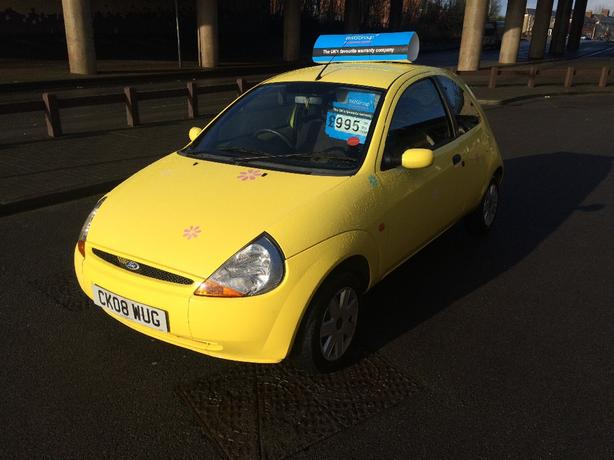 ford ka 2008 yellow 76k miles bilston dudley mobile. Black Bedroom Furniture Sets. Home Design Ideas