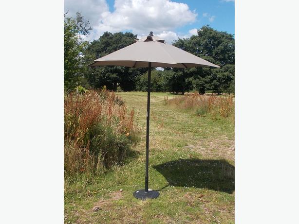 grey garden parasol 2m walsall dudley. Black Bedroom Furniture Sets. Home Design Ideas