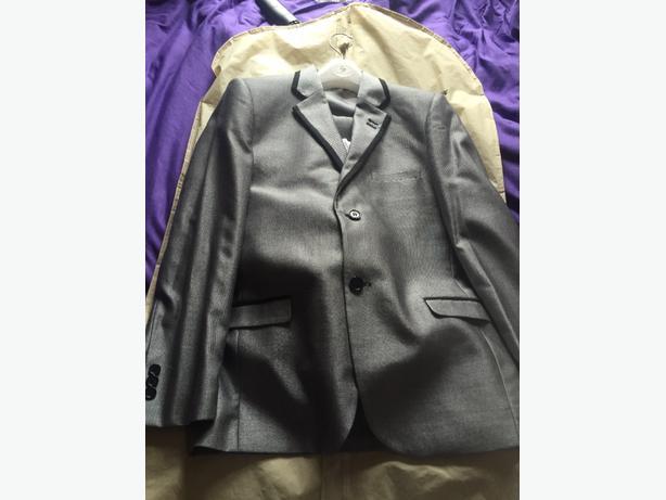 silver smart suit