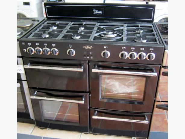 Belling 100cm Classic Black Gas Range Cooker 100GT, Fully tested return, unused