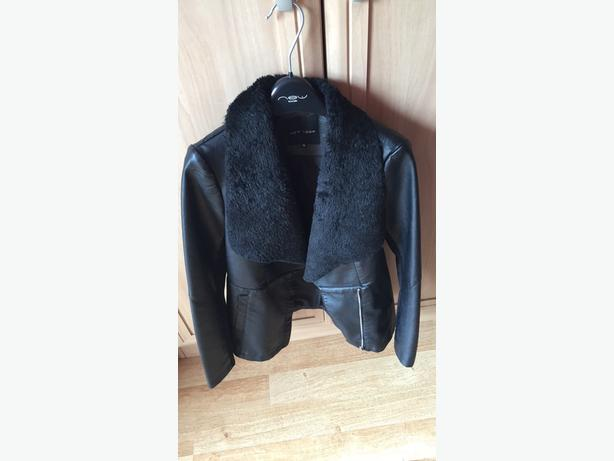SIZE 10 BLACK LEATHER JACKET (from New Look)