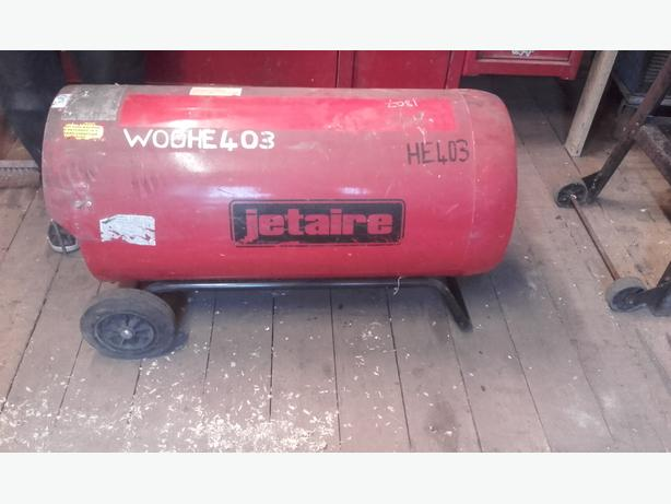 Jet air gas heater