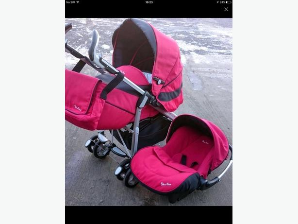Silver cross red travel system