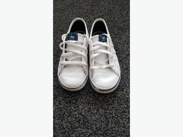 BOYS ADIDAS WHITE TRAINERS INFANT SIZE 9