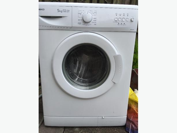 white 5kg washing machine