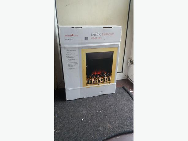 Brand new still sealed Electric  traditional inset fire