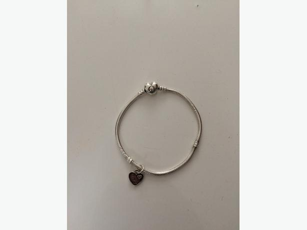 genuine pandora bracelet and charm