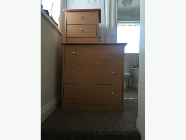 chest of draws and bedside table