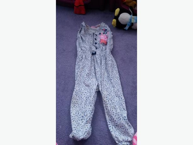 girla 2-3 peppa pig jumpsuit blue zoo dress