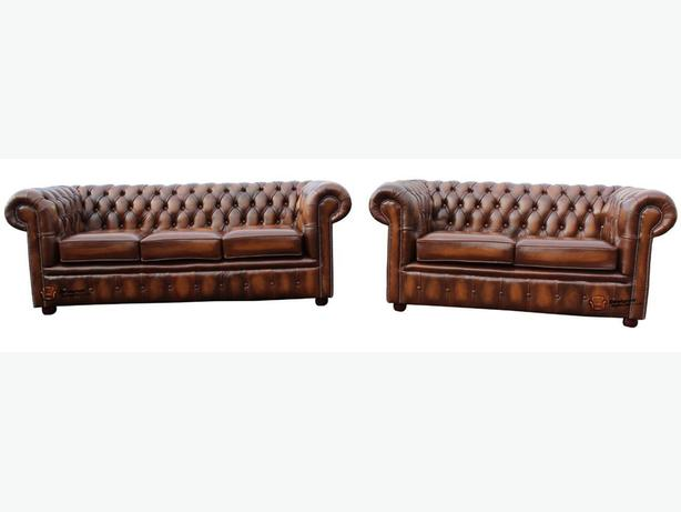 Chesterfield 3+2 setter settees. new