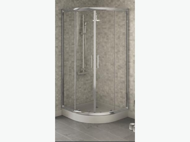shower enclsoure with stone tray New