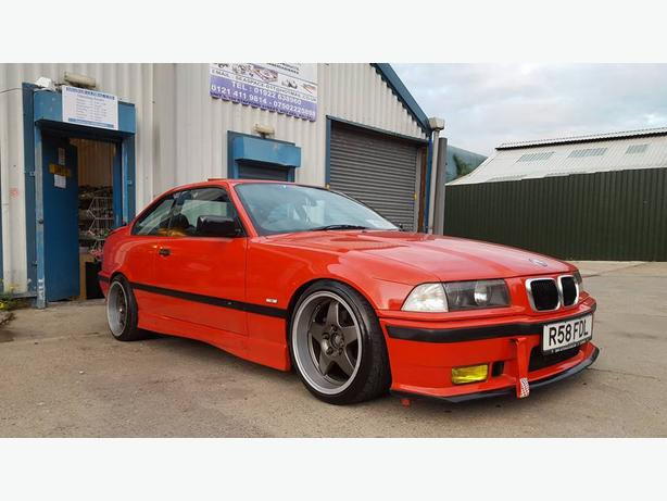 BMW E36 328i COUPE MODIFIED SLAMMED M£ EXTRAS Gt2 NOT E30 CONVERTIBLE