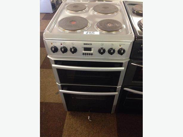 BEKO SILVER DOUBLE OVEN ELECTRIC COOKER
