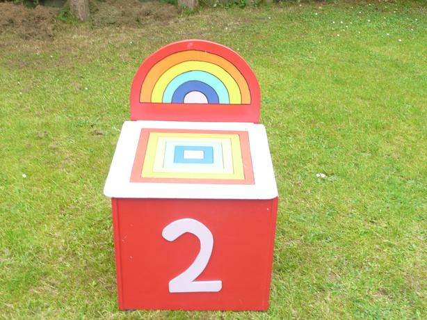 children's square wooden toy box