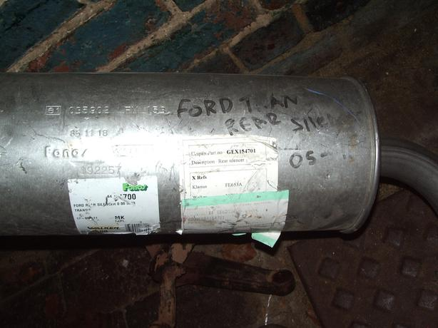 ford transit rear silencer 05///11