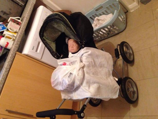 reborn doll boy with pushchair and clothes