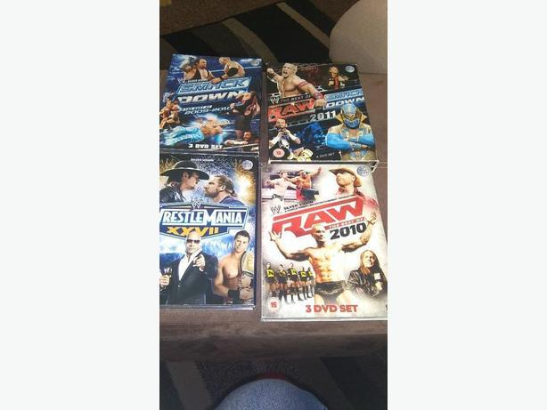 Lots of wwe dvds