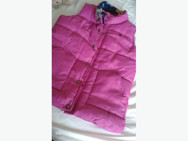 Joules Girls pink body warmer