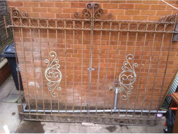 solid steel gates