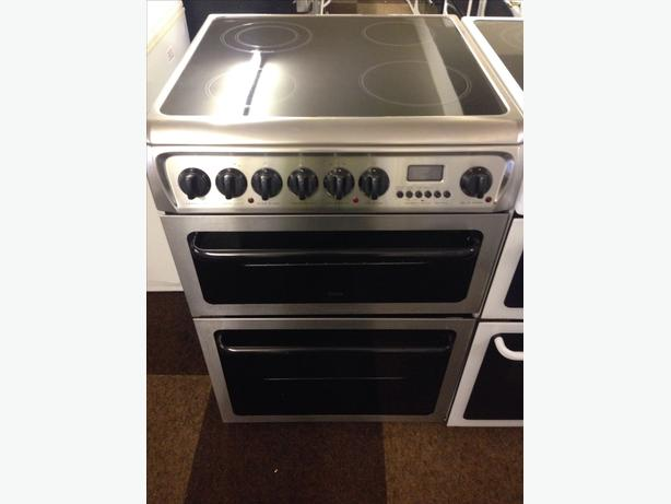 CREDA HOTPOINT STAINLESS STEEL 60CM ELECTRIC COOKER
