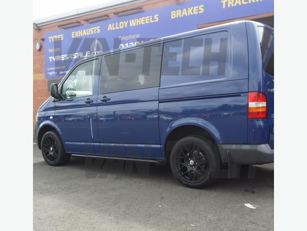 For Sale: Calibre Exile 18″ Alloy Wheels Matte Black VW T5 Van