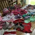Build a Bear Clothing lot at least 12 outfits plus extras inc sleeping bag