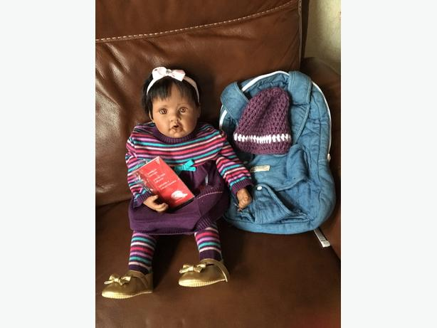 gotz doll for sale with baby carrier