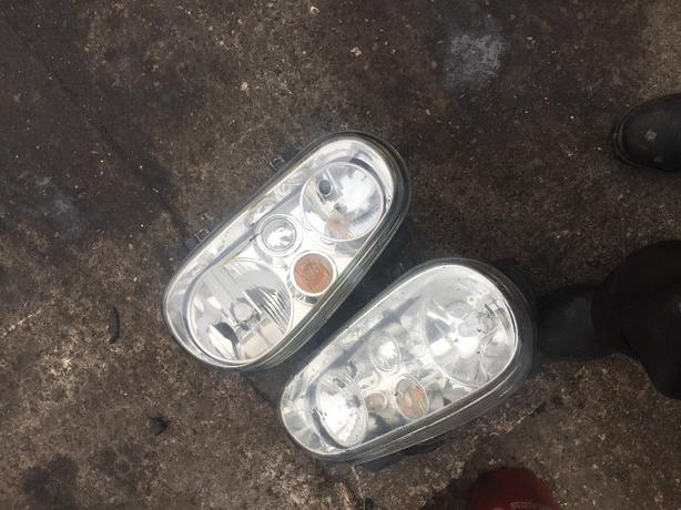 VW GOLF MK4 PAIR OF HEADLIGHTS CLEAR INCLUDING BULB HOLDERS COMPLETE HEADLIGHTS