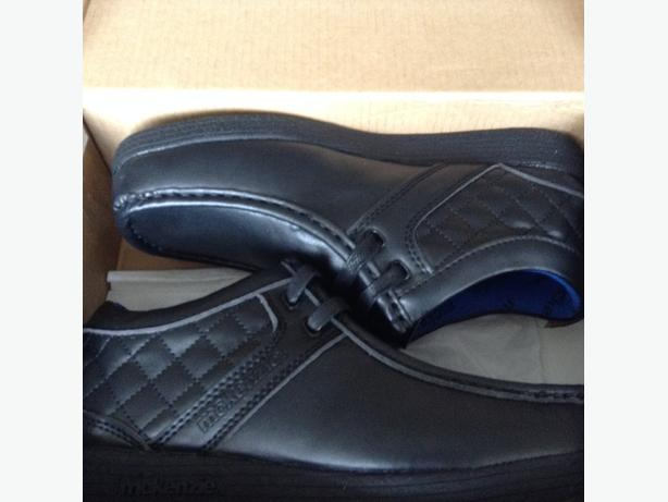 McKenzie Boys black school shoes size 2. Brand New in box.  Mint Condition.