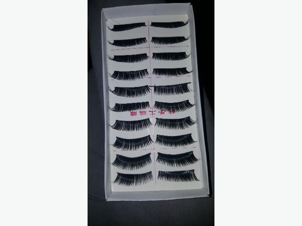 10 pairs of black false eyelashes