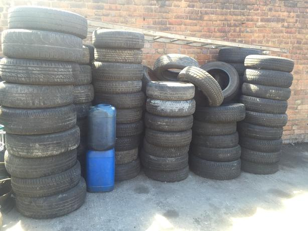 TYRES ONLY PARTS WORN TYRES 13's 14's 15's £40 THE LOT OR £5 EACH