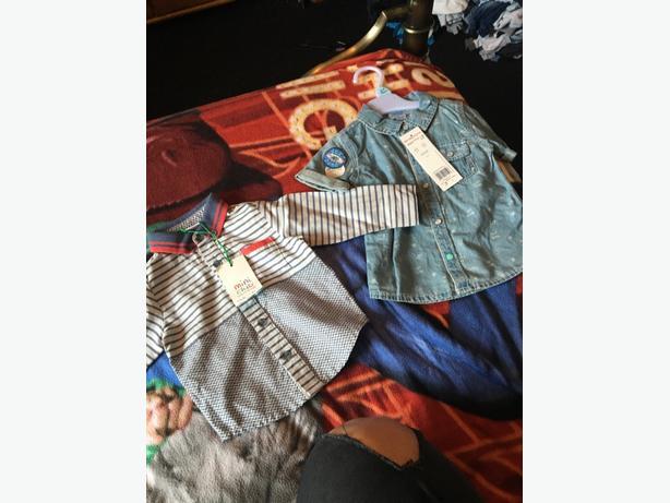 2 6-9 months boys shirts