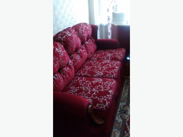 Three seater sofa  and two arm chairs