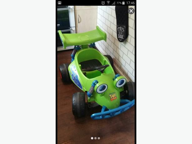 toy story rc ride in car