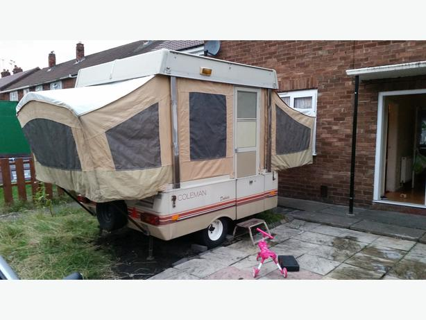  Log In needed £300 · Coleman dakota popup camper
