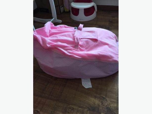 pink polkadot beanbag