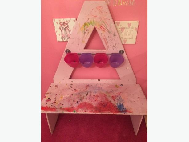 childrens handmade personalised desk