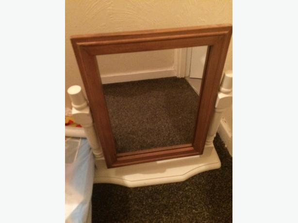 dressing table mirror cream wood & pine