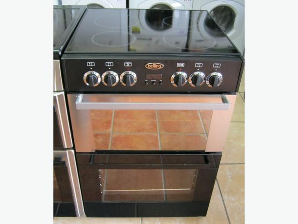 NEW 60cm Belling Electric Cooker with mismatched doors, ceramic hob