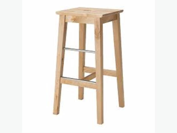 2 Ikea wooden stools