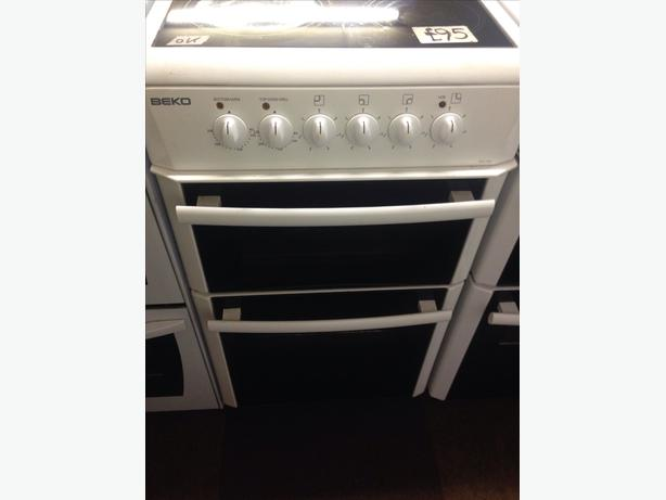 BEKO DOUBLE OVEN 50CM FAN ASSISTED